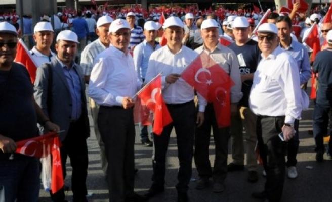 """SAMSUN TSO'DA, """"TERÖRE HAYIR, KARDEŞLİĞE EVET"""" DEDİ"""