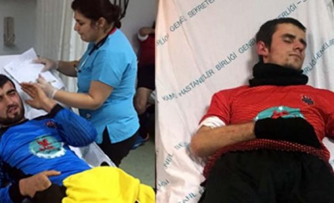 Samsun'da amatör maçta kavga: 3 yaralı
