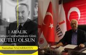 Süleyman Yağcıoğlu Nursultan Nazarbayev'i andı