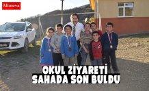 Okul Ziyareti Sahada Son Buldu