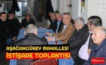 AŞAĞIAKGÜNEY MAHALLESİ İSTİŞARE TOPLANTISI