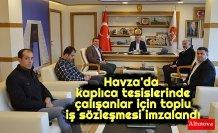 Havza'da kaplıca tesislerinde çalışanlar için toplu iş sözleşmesi imzalandı