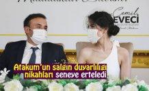 Atakum'un salgın duyarlılığı nikahları seneye erteledi