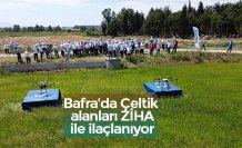 Bafra'da Çeltik alanları ZİHA ile ilaçlanıyor