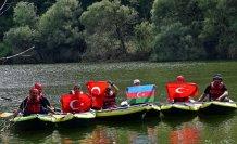 Zinav Gölü ve Kanyonu'nda kano etkinliği yapıldı