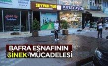 BAFRA ESNAFININ 'SİNEK' MÜCADELESİ