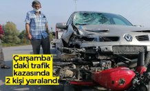Çarşamba'daki trafik kazasında 2 kişi yaralandı