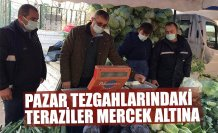 PAZAR TEZGAHLARINDAKİ TERAZİLER MERCEK ALTINA