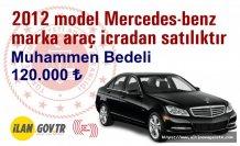 2012 model Mercedes-benz marka araç icradan satılıktır