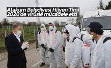 Atakum Belediyesi Hijyen Timi 2020'de virüsle mücadele etti
