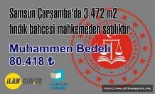 Samsun Çarşamba'da 3.472 m2 fındık bahçesi mahkemeden satılıktır
