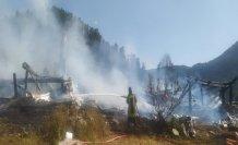 Kastamonu'da yaylada 2 ev yandı