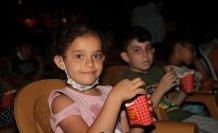 Yağlıdere'de çocuklar için açık hava sineması etkinliği düzenlendi
