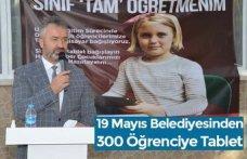 19 Mayıs Belediyesinden 300 Öğrenciye Tablet