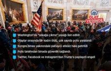 ABD'de Trump destekçileri polis barikatını aşarak Kongre binasına girdi