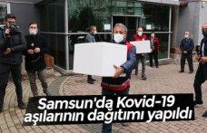 Samsun'da Kovid-19 aşılarının dağıtımı yapıldı