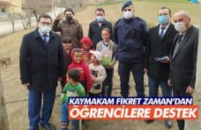 KAYMAKAM FİKRET ZAMAN'DAN ÖĞRENCİLERE DESTEK