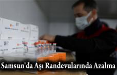Samsun'da Aşı Randevularında Azalma
