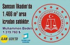 Samsun İlkadım'da 1.466 m2 arsa icradan satılıktır