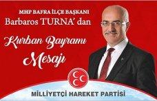 Bafra MHP İlçe Başkanın'dan Kurban Bayramı Mesajı