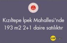 Kızıltepe İpek Mahallesi'nde 193 m² 2+1 daire satılıktır