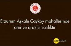 Erzurum Aşkale Çayköy mahallesinde ahır ve arazisi satılıktır