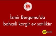 İzmir Bergama'da bahçeli kargir ev satılıktır