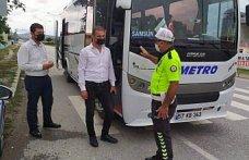 Samsun'da yolcu otobüsleri denetlendi