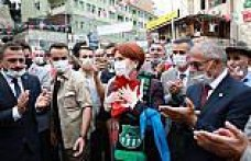 İYİ Parti Genel Başkanı Meral Akşener Artvin'de esnafı ziyaret etti