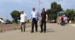 Bafra'da Bir İlk Daha… Dış Mahalleler Beton Yola Kavuşuyor