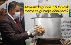 Atakum'da günde 1.5 ton atık mama ve gübreye dönüşecek