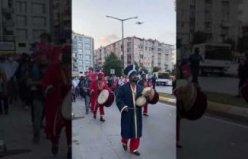 Bafra'da Demokrasi ve milli birlik günü yürüyüşü