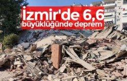 İZMİR'DE ŞİDDETLİ DEPREM