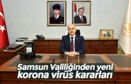 Samsun Valiliğinden yeni korona virüs kararları