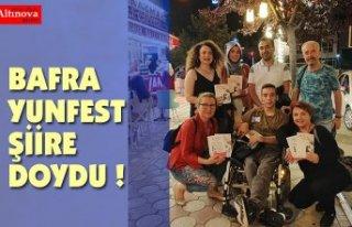 BAFRA YUNFEST ŞİİRE DOYDU !