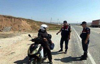 Jandarmadan motosikletlere yönelik uygulama