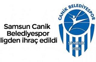SamsunCanik Belediyespor ligden ihraç edildi
