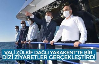 VALİ ZÜLKİF DAĞLI YAKAKENT'TE BİR DİZİ ZİYARETLER...