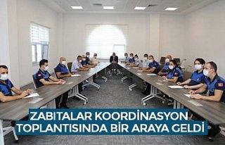 ZABITALAR KOORDİNASYON TOPLANTISINDA BİR ARAYA GELDİ