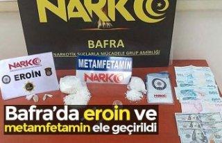 Bafra'da eroin ve metamfetamin ele geçirildi