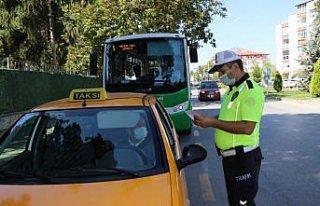 Bolu'da taksiler ve toplu taşıma araçlarına yönelik...