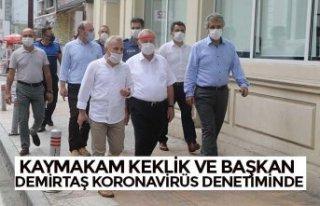 KAYMAKAM KEKLİK VE BAŞKAN DEMİRTAŞ KORONAVİRÜS...