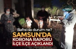 SAMSUN'DA VAKA ARTIŞ HIZININ EN YOĞUN OLDUĞU...