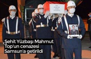 Şehit Yüzbaşı Mahmut Top'un cenazesiSamsun'a...