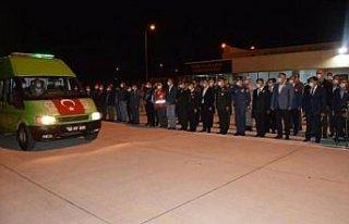 Şehit Yüzbaşı Mahmut Top'un cenazesi Samsun'a...