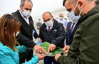 Trabzon'da Harmantepe Şehitliği'nde çevre düzenleme...