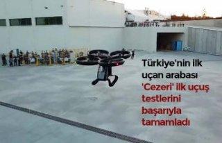 Türkiye'nin ilk uçan arabası 'Cezeri'...
