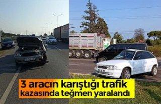 3 aracın karıştığı trafik kazasında teğmen...