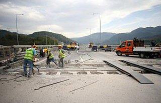 Anadolu Otoyolu Bolu Dağı Tüneli Ankara yönü...
