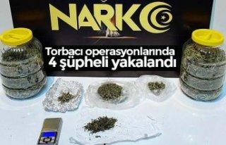 Torbacıoperasyonlarında 4 şüpheli yakalandı
